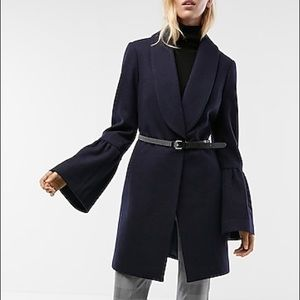 NWT Express Bell Sleeve Wool Coat